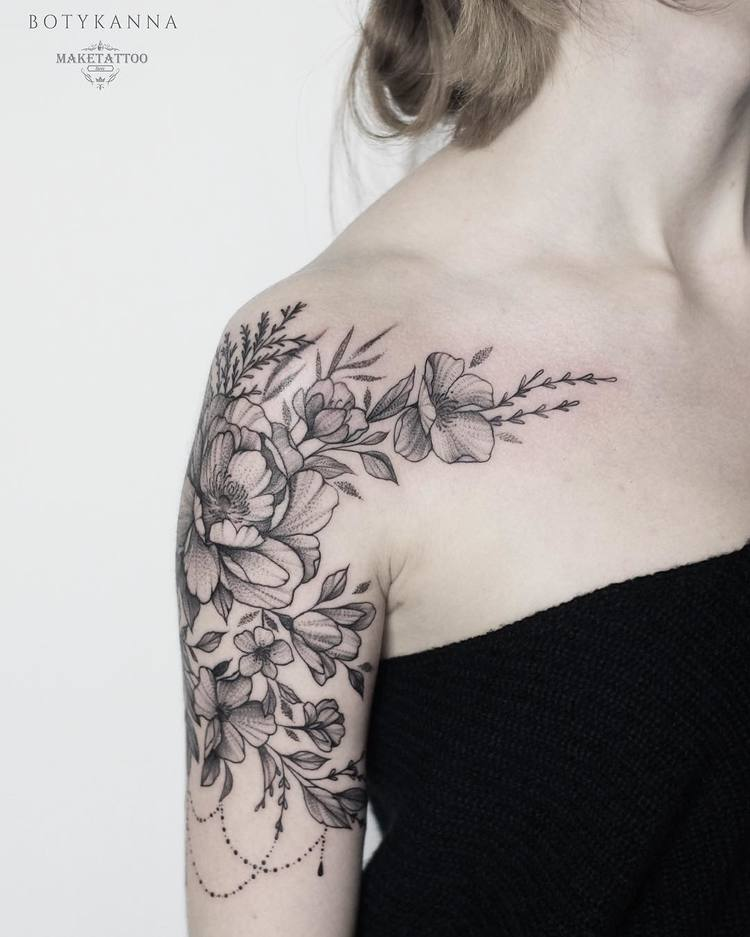32 Best No Line Flower Tattoo Images On Pinterest: 24 Gorgeous Botanical Tattoos By Anna Botyk