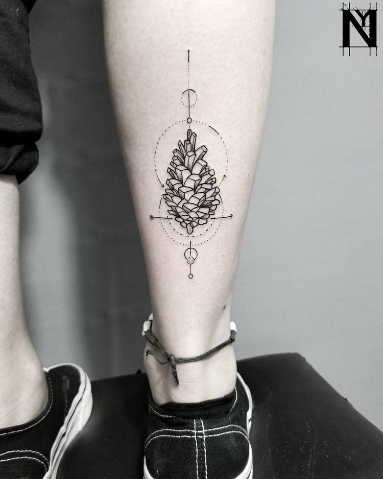 Pine Cone Tattoo by noamyonatattoos