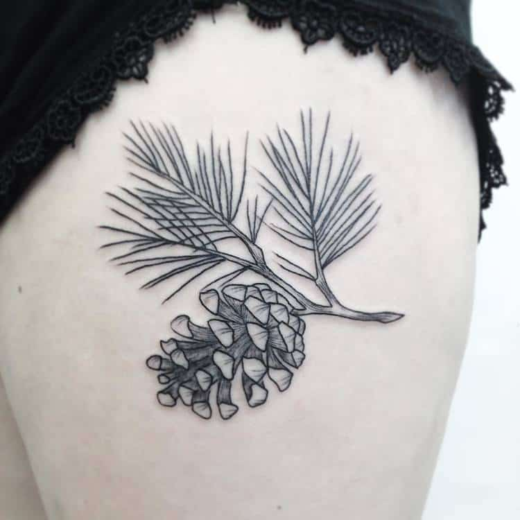 Pine Cone Tattoo by tattoos_by_zoe_emily