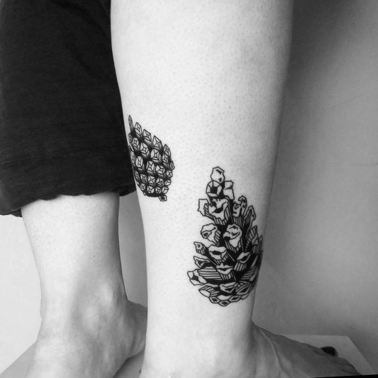 Pine Cone Tattoo by norapruyser