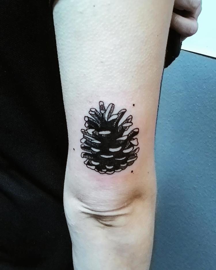 Pine Cone Tattoo by sueshi_official