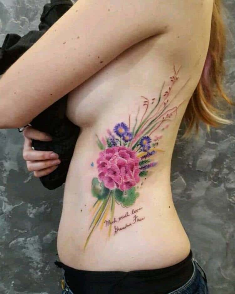 Floral Bouquet Tattoo by Simona Blanar