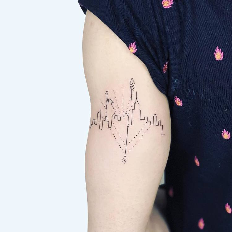 NYC Skyline Tattoo by Laura Martinez
