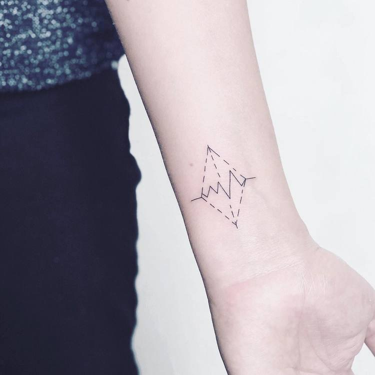 Soundwave and Rhomb Tattoo by Laura Martinez