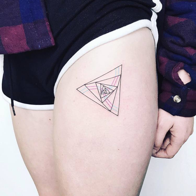 Triangles Tattoo by Laura Martinez
