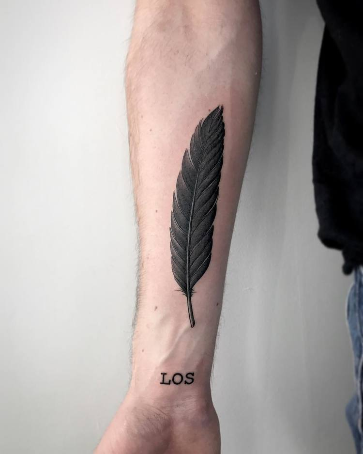 Feather Tattoo by marchateaux
