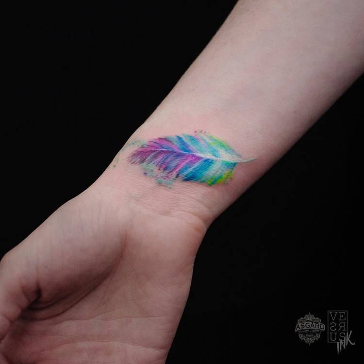 Feather Tattoo by versusink