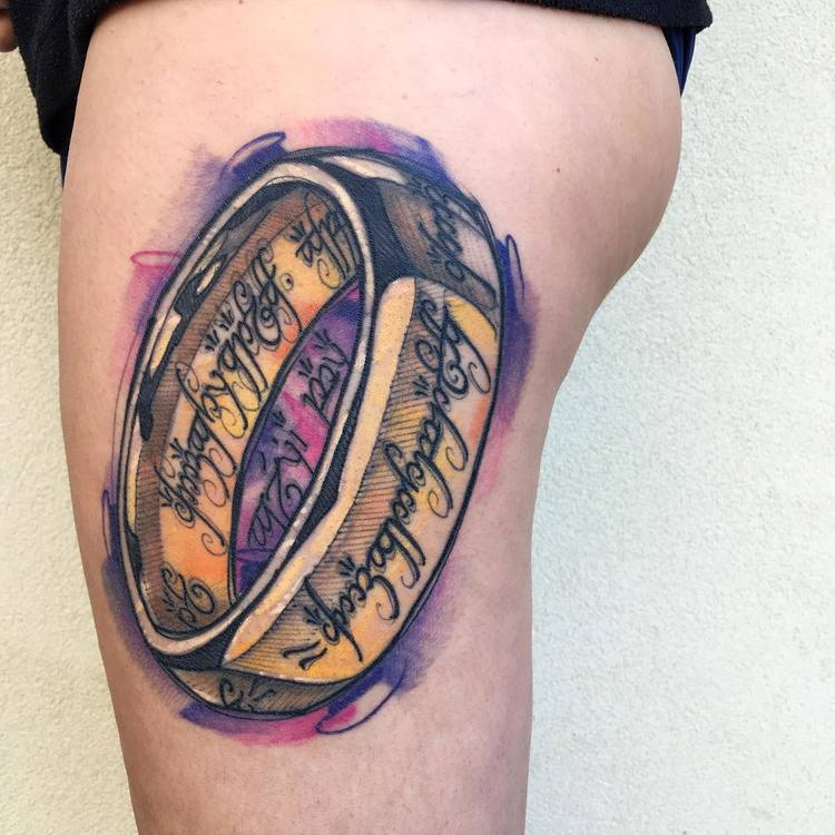 (Lord of the) Ring Tattoo by Luca Testadiferro