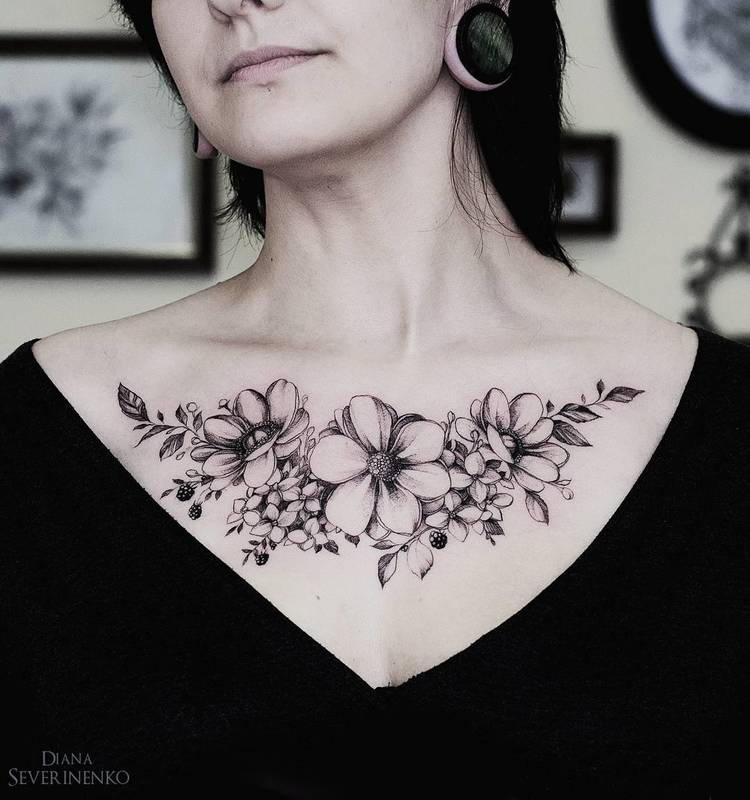 Anemone Tattoo by dianaseverinenko