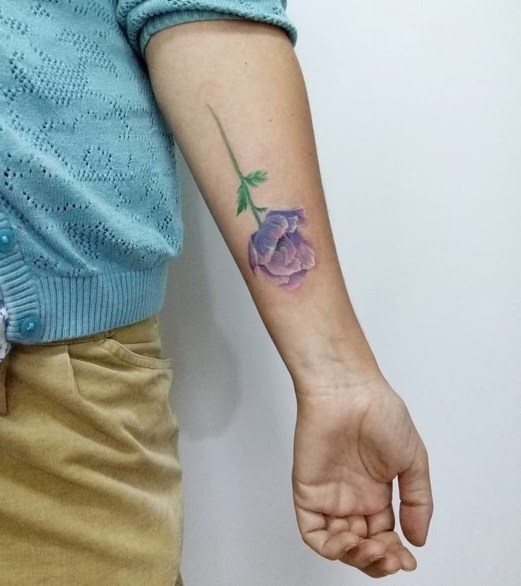 Anemone Tattoo by galya_dyomina