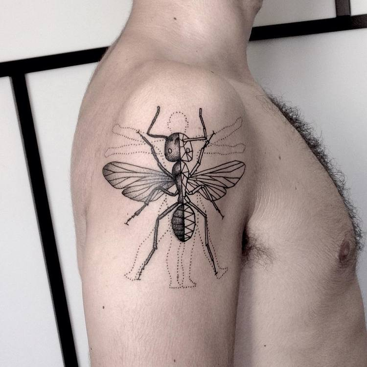 Ant Tattoo by rebecalopeztattoo