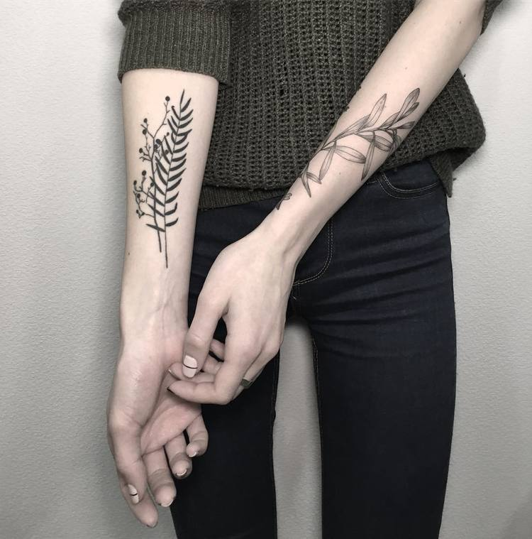 Botanical Tattoo Designs by Mary Tereshchenko