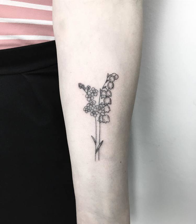 Lily Of The Valley Tattoo: 50 Splendid Botanical Tattoo Designs By Mary Tereshchenko