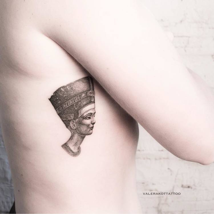 Nefertiti Tattoo by valerakottattoo