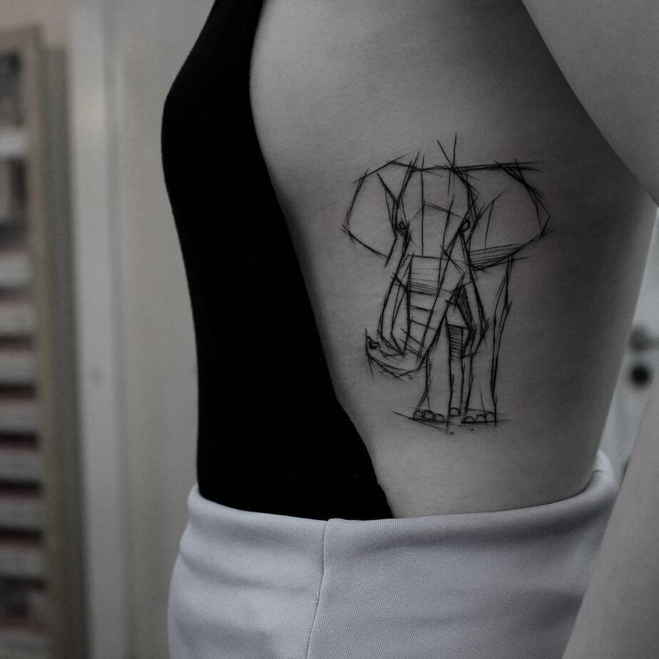 Elephant Tattoo by kamilmokot