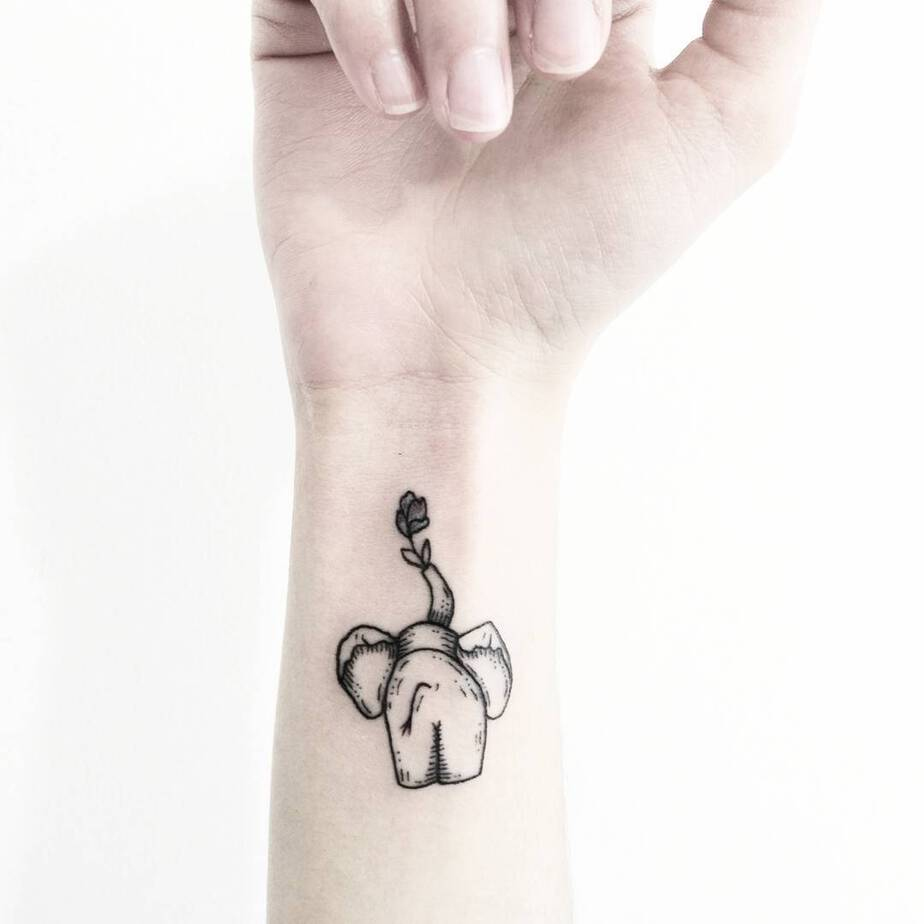 Elephant Tattoo by sollefe