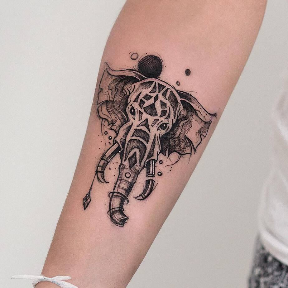 Elephant Tattoo by robcarvalhoart
