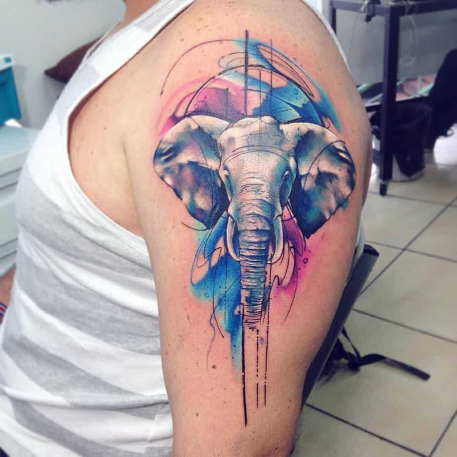 Elephant Tattoo by adrianbascur