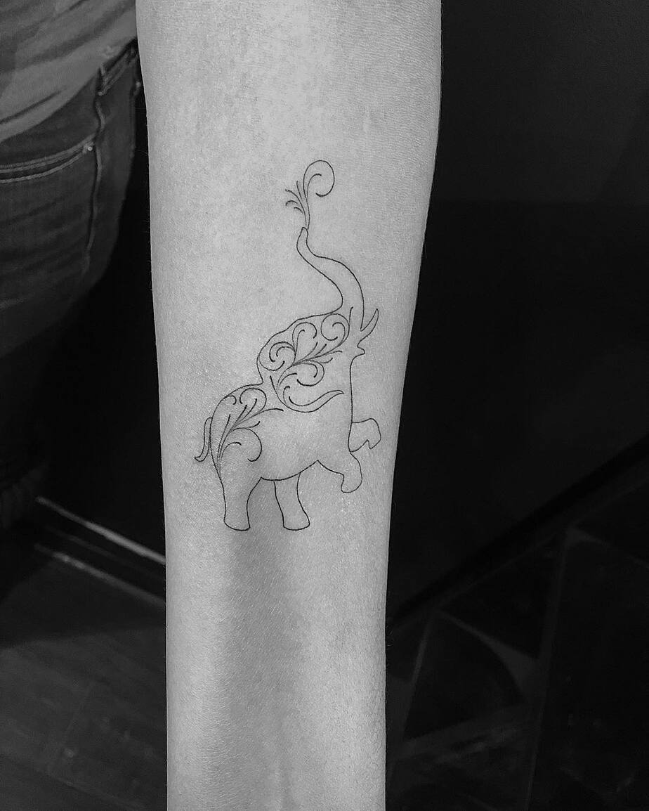 Elephant Tattoo by mnsantanatattoo