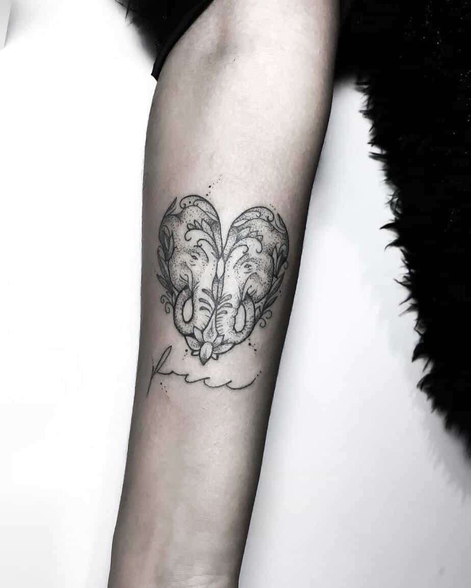 Elephant Tattoo by sebastian.enemy