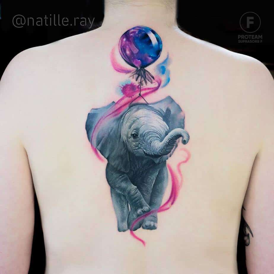 Elephant Tattoo by natille.ray