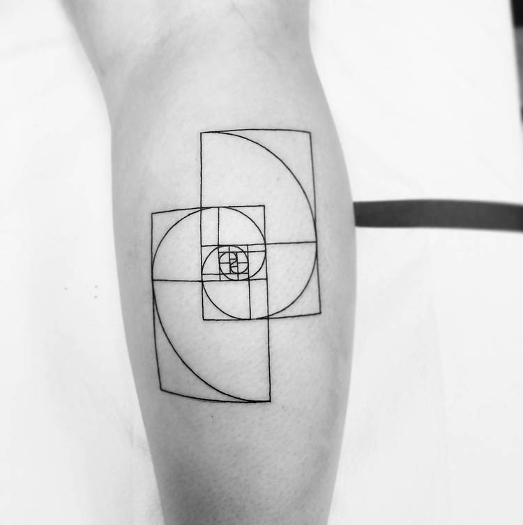 Fibonacci Tattoo by boscolaynetattoo