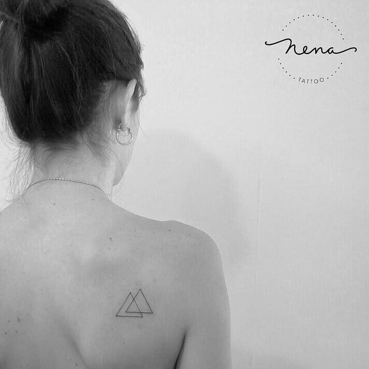 Minimalist Triangles Tattoo by Nena_Tattoo