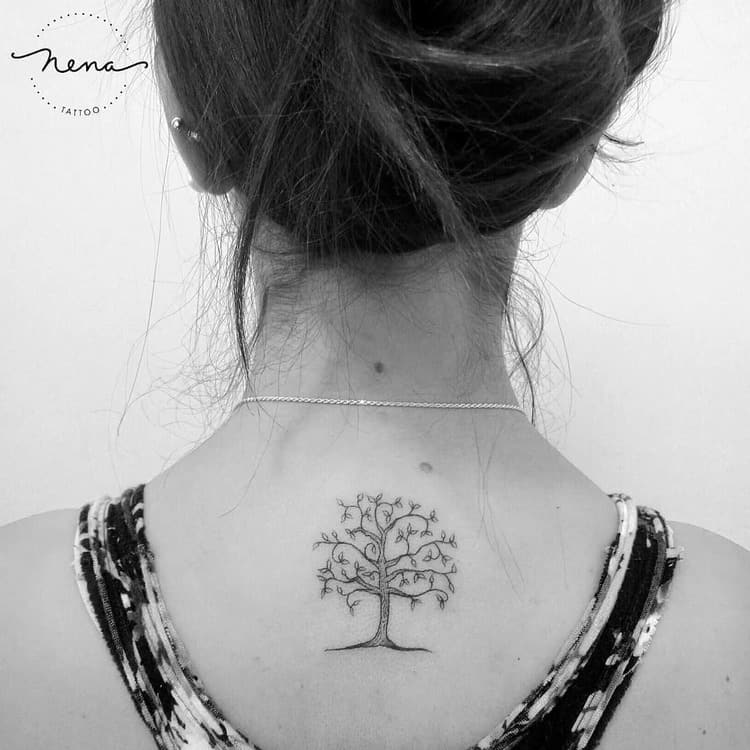 Whimsical Tree Tattoo by Nena_Tattoo