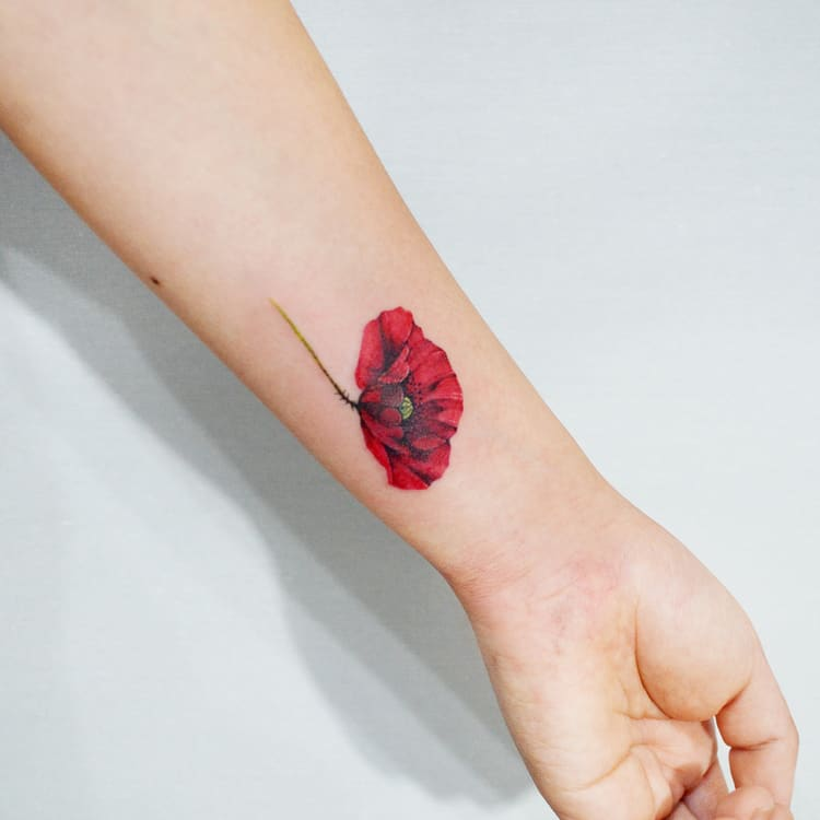 Poppy Tattoo by hwahongtattoo