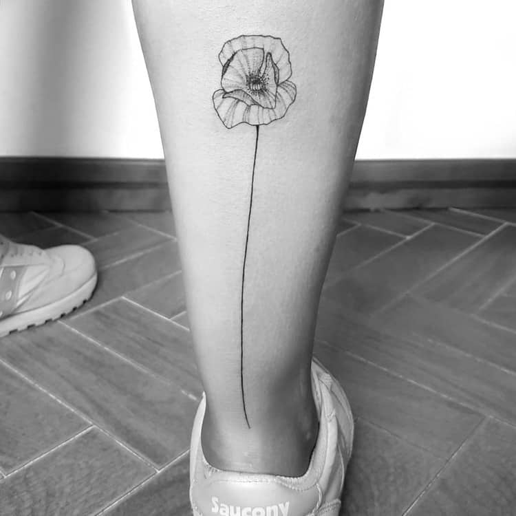 Poppy Tattoo by blackrebel_ink