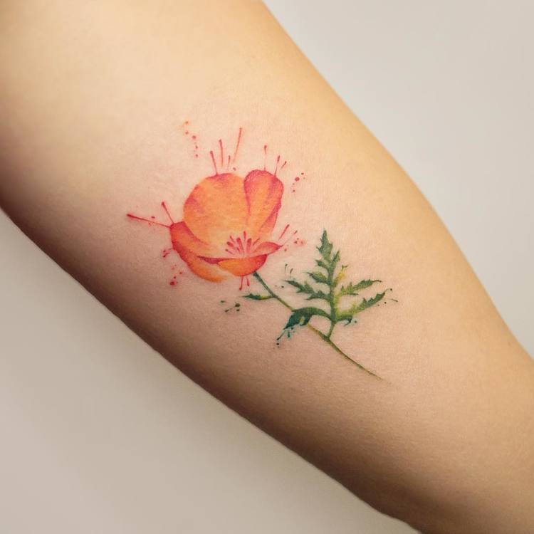 Poppy Tattoo by georgiagreynyc