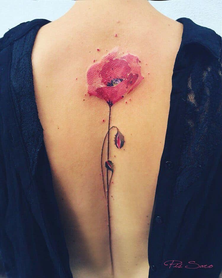 Poppy Tattoo by pissaro_tattoo