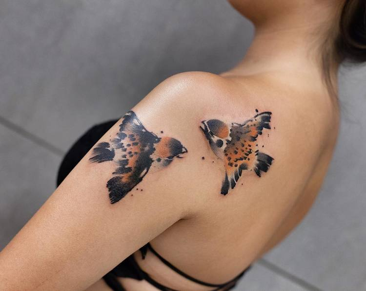 Watercolor Tattoos By Chen Jie