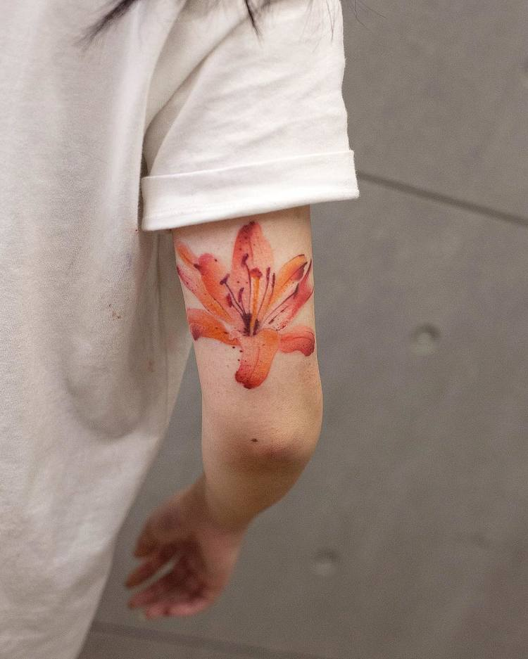 Lily Tattoo By Chen Jie