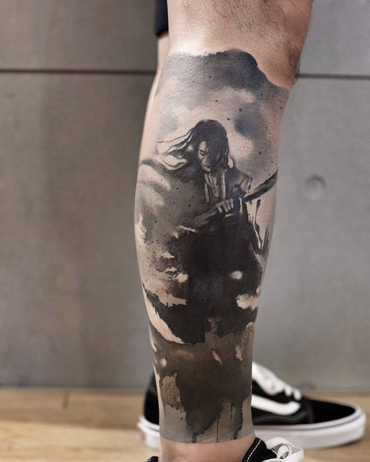Watercolor Tattoo By Chen Jie