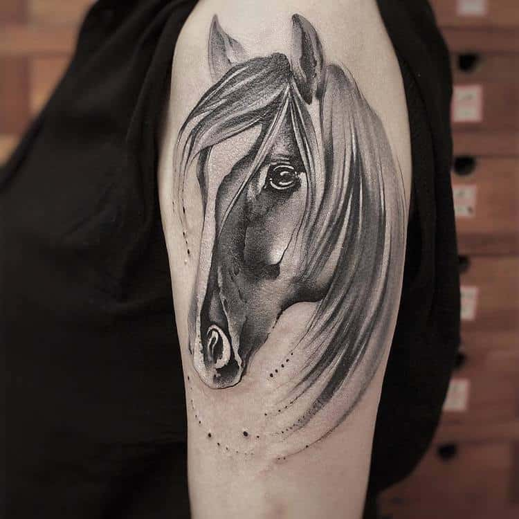 Horse Tattoo By Chen Jie