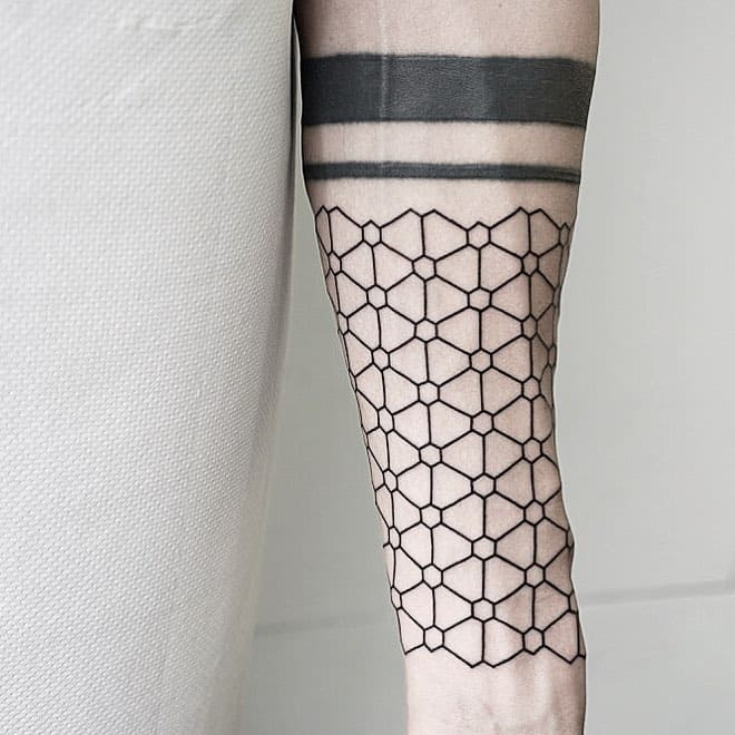 Geometric Pattern Tattoo by Malvina Maria Wisniewska