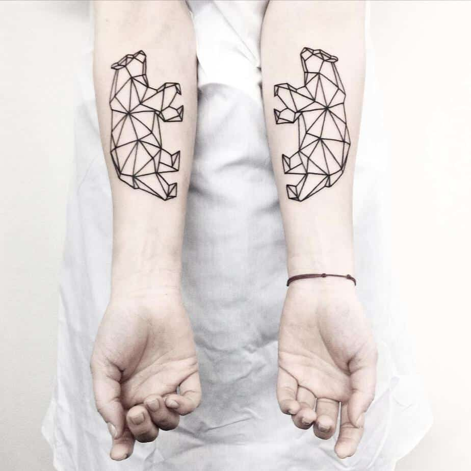 Symmetrical Geometric Tattoos by Malvina Maria Wisniewska