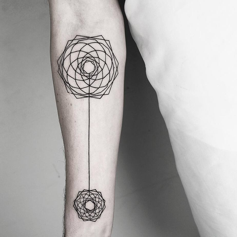Hexagonal Composition Tattoo by Malvina Maria Wisniewska