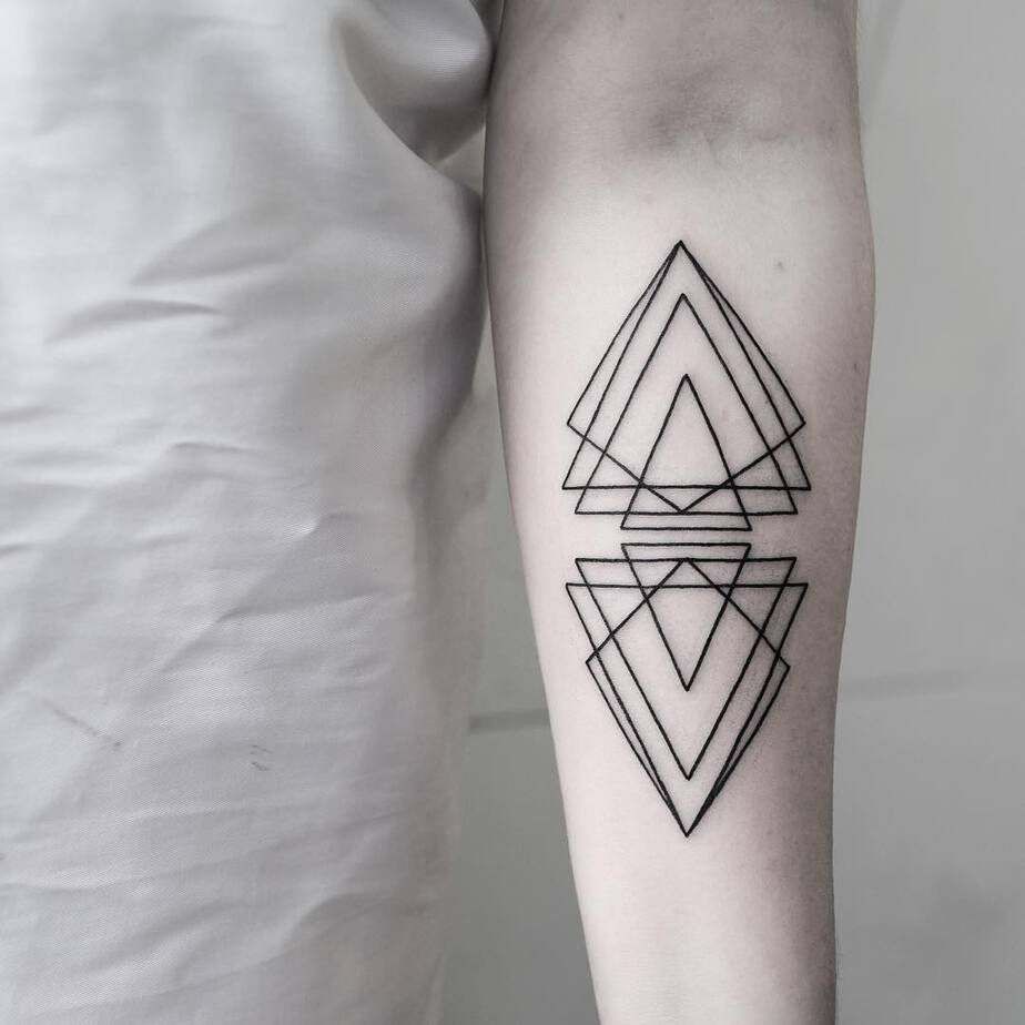 Triangle Composition Tattoo by Malvina Maria Wisniewska