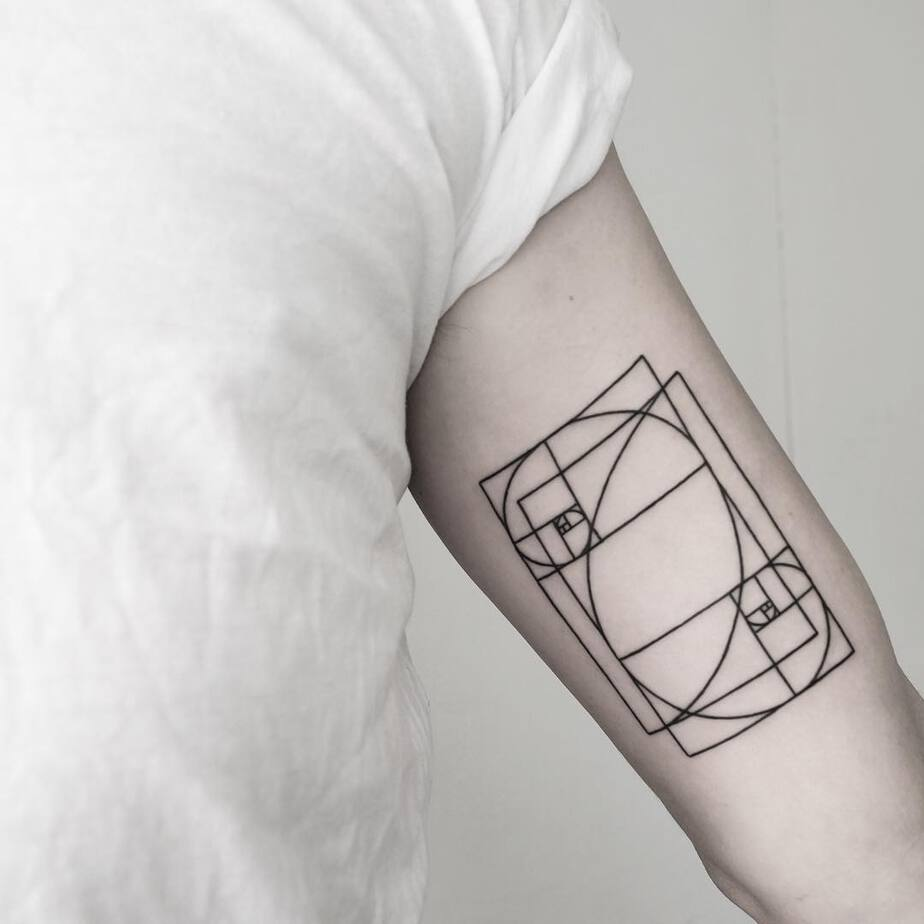 Double Fibonacci Tattoo by Malvina Maria Wisniewska