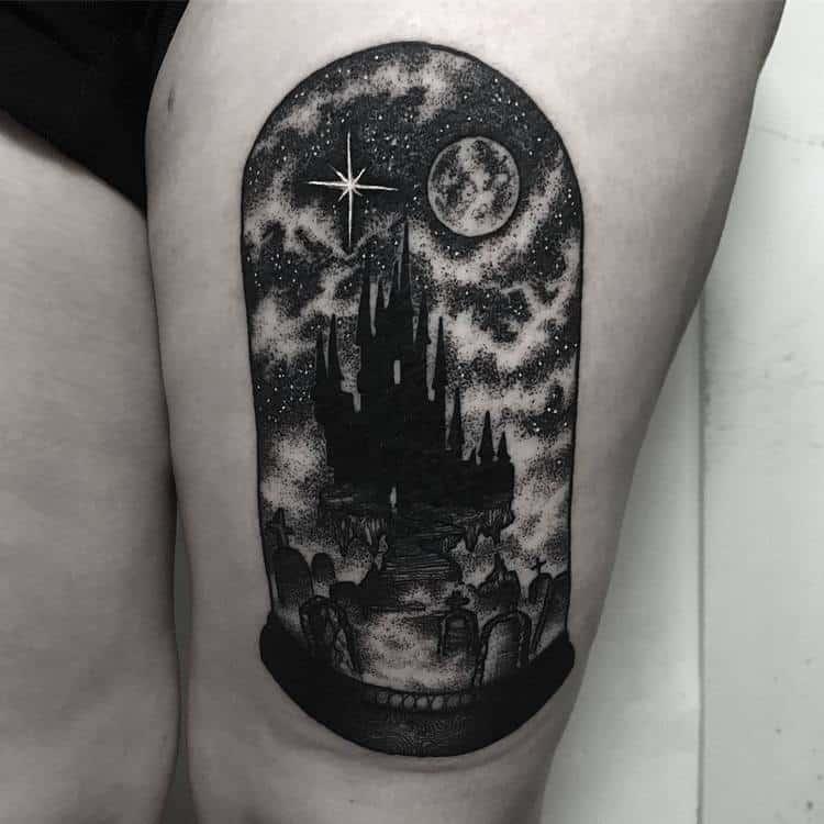 Dark Landscape in a Bell Jar