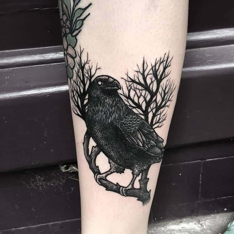 30 Blackwork Dark Tattoos by Merry Morgan