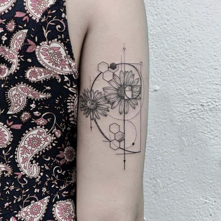 Achillea Ptarmica and Fibonacci Tattoo