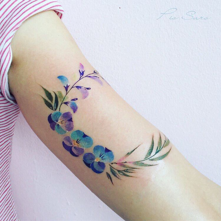 Violet Tattoos by pissaro_tattoo