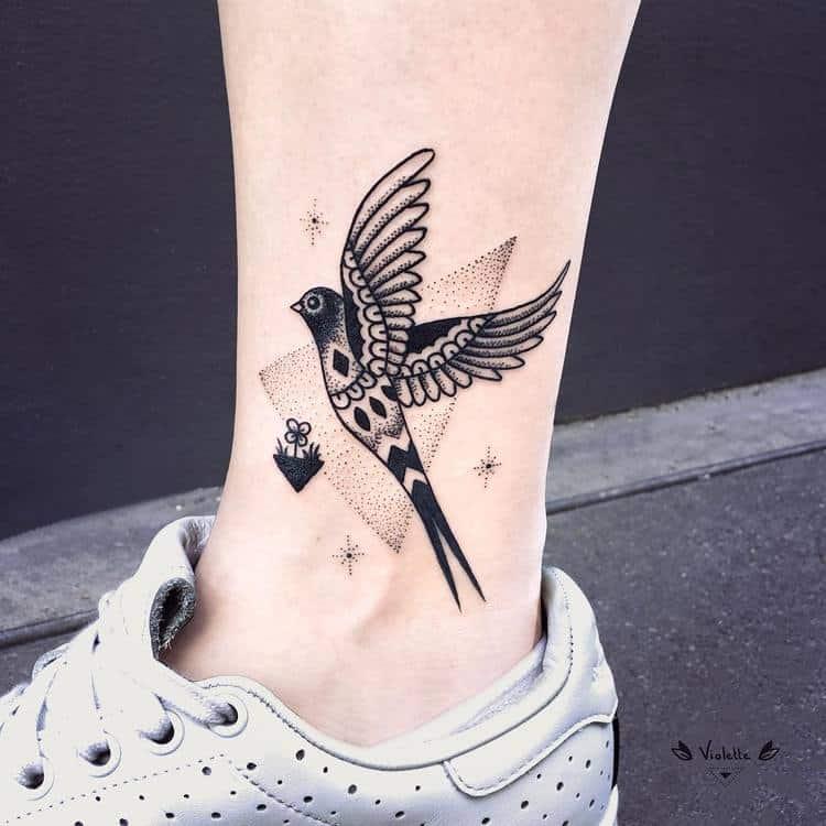 Bird Tattoo by violette_bleunoir