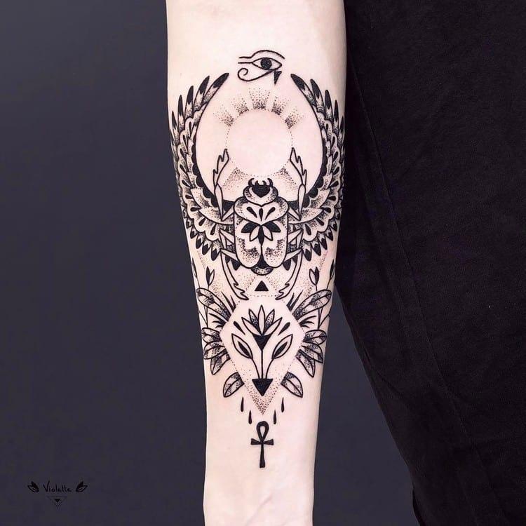 Egyptian Tattoo by violette_bleunoir