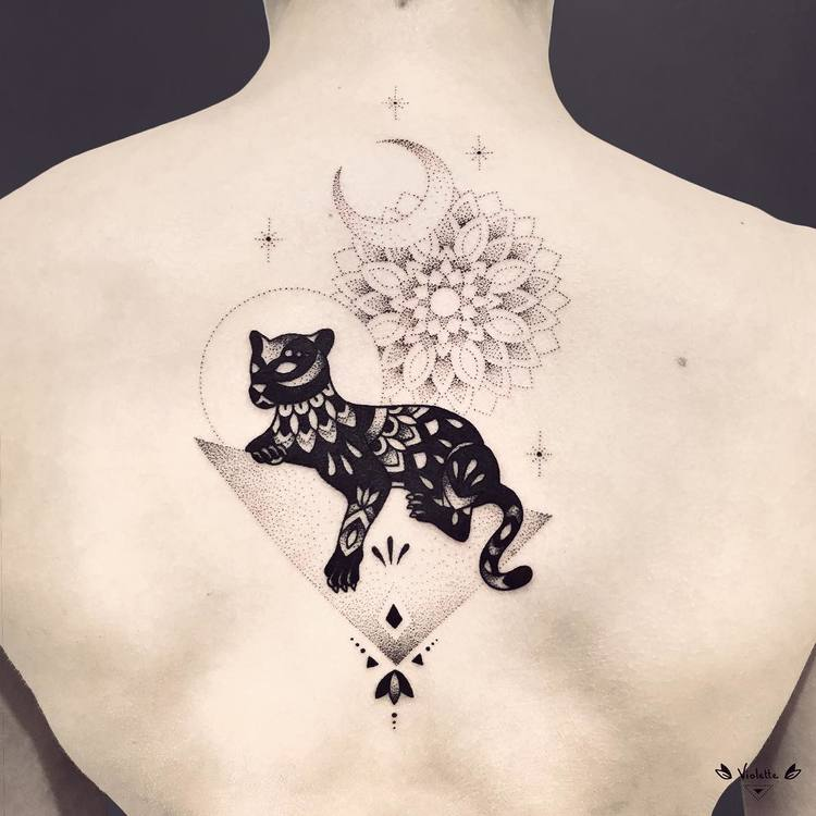40 Abstract Blackwork Tattoo Designs by Violette Chabanon