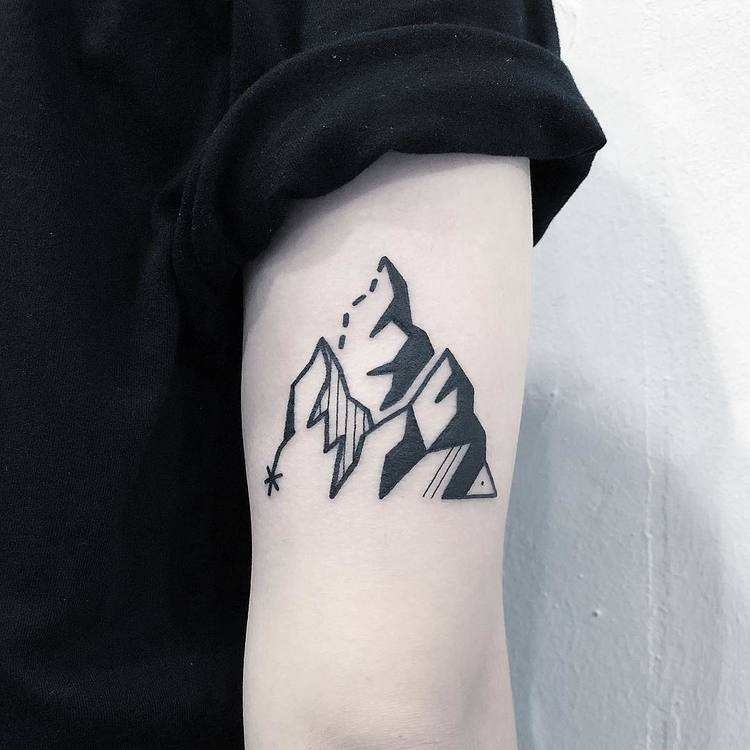 Mountain Tattoo by Greemtattoo