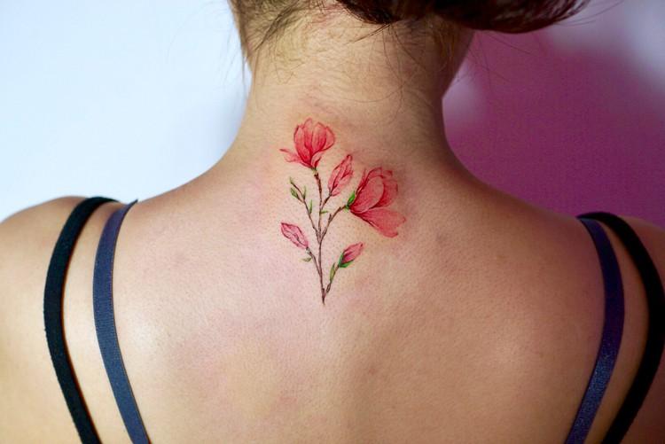 Magnolia Tattoo by woogotattooer